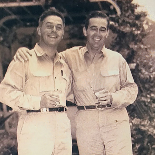 "Francis T. ""Frank"" Baldy (left) and Butch O'Hare"