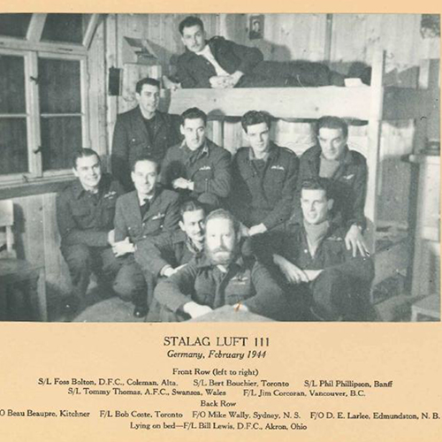 Darrell Larlee and members of Stalag Luft 111
