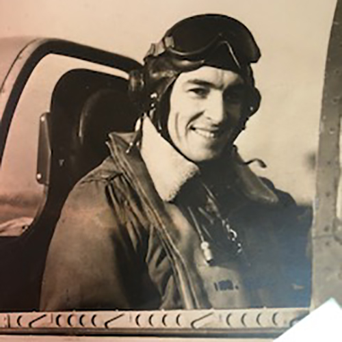 Matthew Crawford, Jr., in his P51-D Mustang