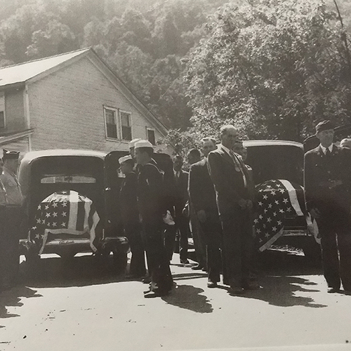 Funeral of Ethel Dillon's brothers Steve Switch and Frank Perfin, 9/12/1948